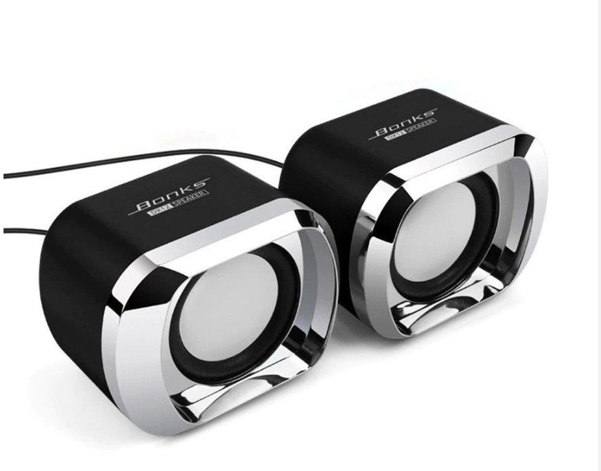 USB 2.0 Notebook Speakers Wired Stereo Mini Computer Speaker for Desktop Laptop