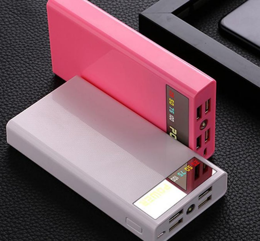 4 USB Portable 5V2A 6x18650 Power Bank Battery Box Shell Case DIY Type-C Micro Mobile Phone Charger
