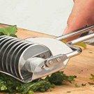 Gadget Stainless Steel Onion Chopper Slicer Garlic Coriander Cutter Cooking Tool