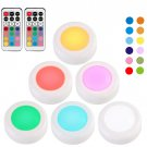 Wireless Under Cabinet led Light Remote Control RGB 12 Colors Dimmable Touch Sensor