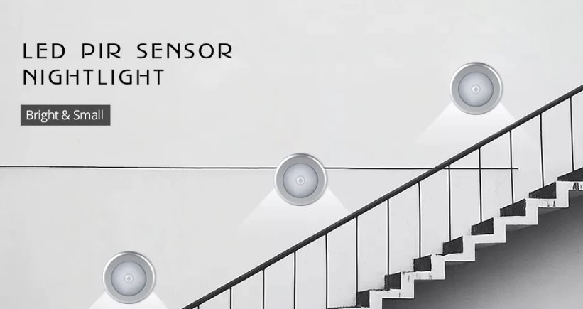 Motion Sensor Under Cabinet Light Auto Smart Night Lamp