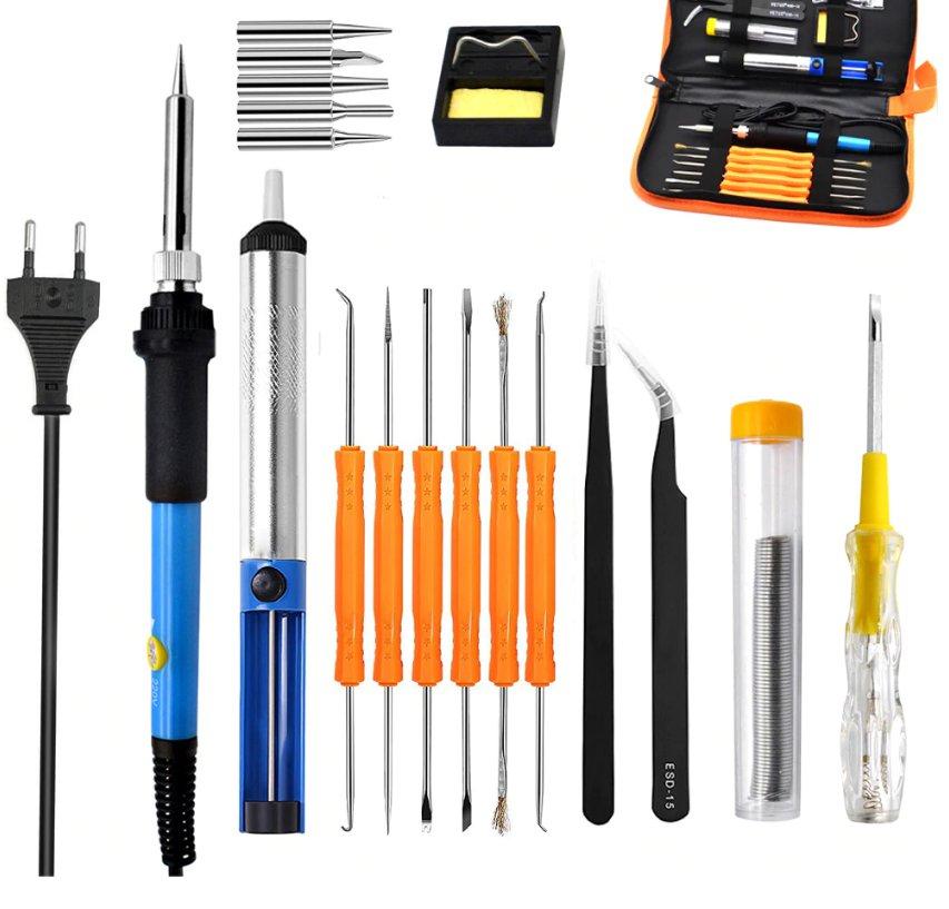 60W 220V Electric Soldering Iron Set Temperature Adjustable Welding Repair Tool