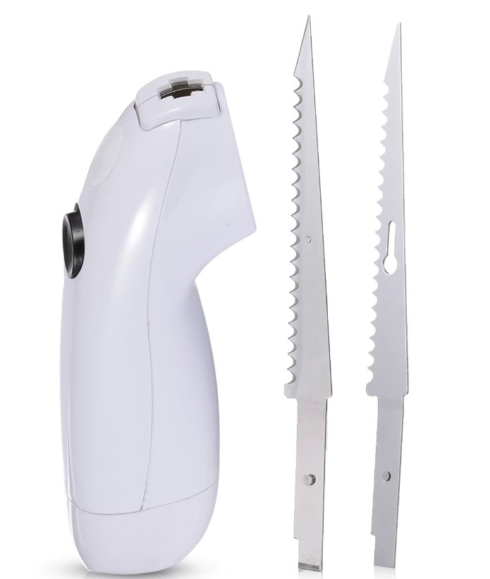 Electric Knife Slicing Blades Slice Meat Deli Bread Frozen Vegetables Steak Knife