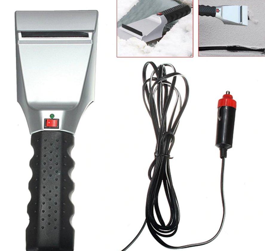 12V Electric Heated Car Ice Scraper Ice Snow Defrost Windshield Scraper