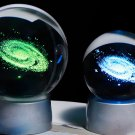 60mm 3D Laser Engraved Galaxy Glass Ball Crystal Miniatures