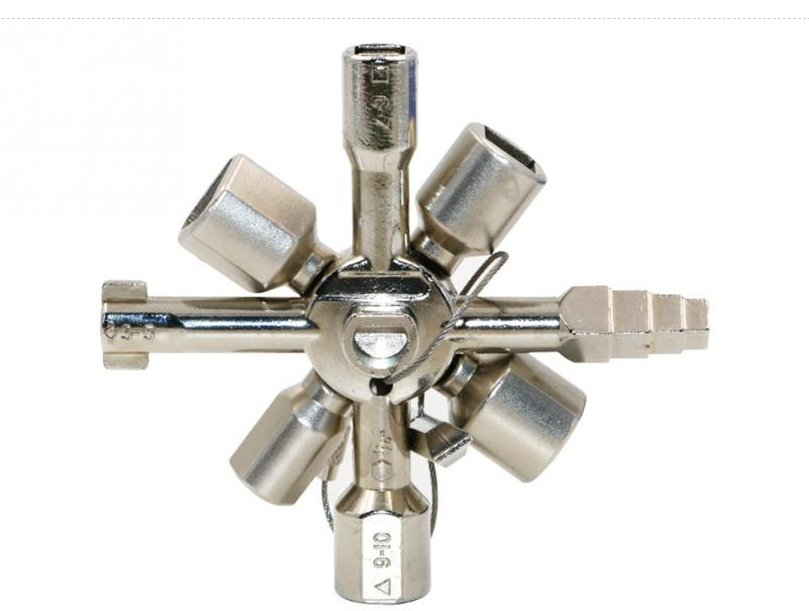 10 In 1 Multifunction Cross Switch Key Wrench Alloy Universal Square Triangle