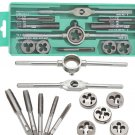 12/20 pcs M6-M12/M3-M12 Metric Tap with 5pcs Die and Adjustable Tap Wrench