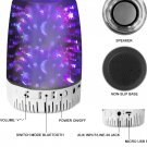 3D glass Light Effect Bluetooth Speaker, Night Light Bluetooth With Speaker, Speaker For Party