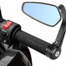 """Motorcycle Mirror Aluminum 7/8"""" 22mm Bar End Side Rearview Mirror Universal"""