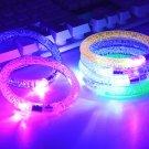 Light up Bracelet Acrylic Flash LED Light Emitting Electronic Bracelet