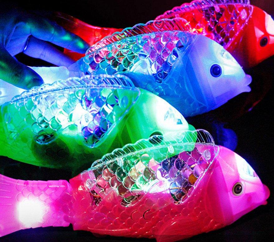 Cute Simulation Fish Toy Boys Creative Pet Magical Music Lights Swim Fish Toys