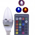 3W Electronic RGB LED Candles Light Remote Controller Light Bulb