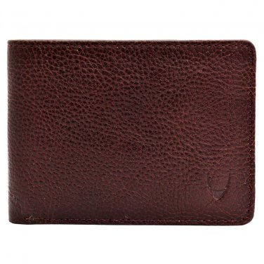 Hidesign Giles Trifold Multi-Compartment Vegetable Tanned Leather Wallet Brown
