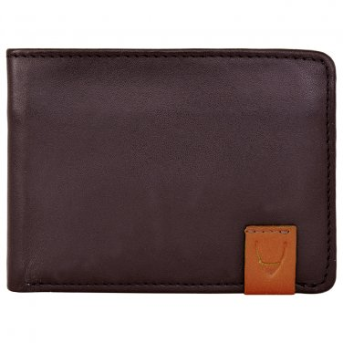 Hidesign Dylan Slim Trifold Multi-Compartment Wallet Brown