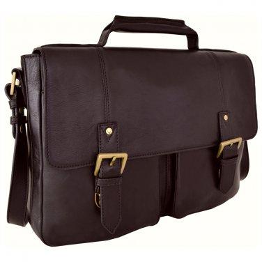 "Hidesign Charles Medium 15"" Laptop Compatible Briefcase Brown"