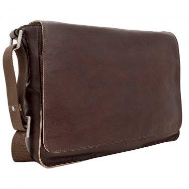 """Hidesign Fred 15"""" Laptop Compatible Messenger Bag Brown"""