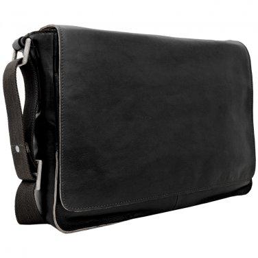 """Hidesign Fred 15"""" Laptop Compatible Messenger Bag Black"""