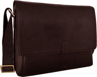 "Hidesign Aiden 15 "" Laptop Compatible Messenger Bag Brown"