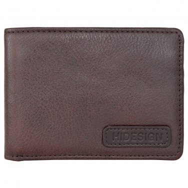 Hidesign Charles Classic Wallet with Coin Pocket Brown