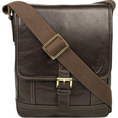 Hidesign Hunter Small Leather Crossbody Messenger Brown