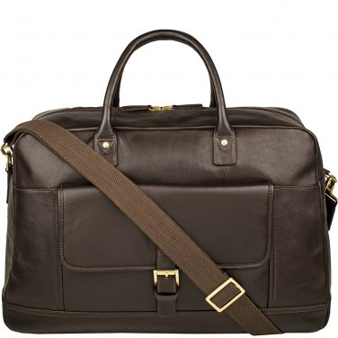 Hidesign Hunter Cabin Sized Duffel in Classic Leather Brown