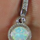 PRETTY! 5.7CT 925 Sterling Silver Pendant Opal CZ OPP242 FREE SHIPPING!