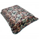 NEW! CAMO BLANKET PATTERN Fits queen or king bed FREE SHIPPING!