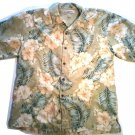 SALE! TOMMY BAHAMA MEN'S SHIRT MED. SILK HAWAIIAN TROPICAL GREEN FREE SHIPPING
