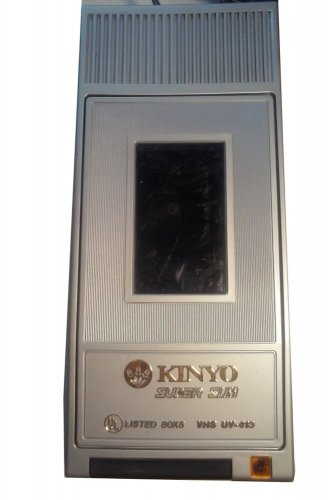 KINYO SUPER SLIM VHS UV-413 TAPE REWINDER TESTED AS WORKING FREE SHIPPING!