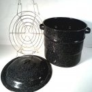 GRANITEWARE CANNER STOCK POT WITH RACK FREE SHIPPING!