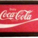 "LARGE COKE COCA COLA SIGN FRAMED LENS PLEXIGLASS 55"" X 22"" FREE SHIPPING!"