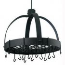 18.5 x 21 Dome Graphite Pot Rack w/Grid 16 Hooks FREE SHIPPING!
