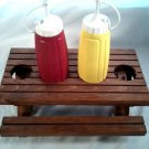 PICNIC TABLE CONDIMENT HOLDER STAND
