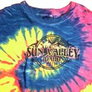 SUN VALLEY IDAHO TIE DYE T-SHIRT COOL AND FUN! SIZE LARGE
