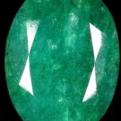 50.00 Ct. HUGE NATURAL GREEN EMERALD OVAL SHAPE CUT GEMSTONE FREE SHIPPING!