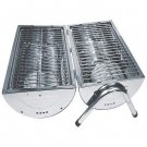 STAINLESS STEEL BBQ GRILL PORTABLE BARBEQUE FREE SHIPPING!