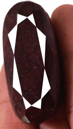 388 CT LARGE Natural Rare Oval Blood Red Ruby Loose Gemstone FREE SHIPPING!