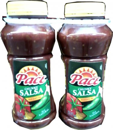 PACE CHUNKY MEDIUM SALSA 2 - 38 OZ. BOTTLES FREE SHIPPING!