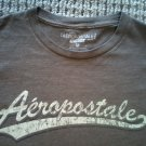 "AEROPOSTLE T SHIRT BROWN SIZE M 18""W BY 23""L FAST FREE SHIPPING"
