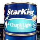 LARGE CAN STARKIST TUNA 65.5 OZ 4.15 LBS FREE SHIPPING!
