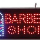 BARBER SHOP with Striped Pole Programmed LED Sign LIGHT STORE FREE SHIPPING!