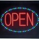 4-Color Programmed LED Sign- Open for Business! Free Shipping!