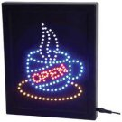 CUP/ OPEN PROGRAMMED LED SIGN COFFEE SHOP RESTAURANT CAFE HOME DECOR FREE SHIPP