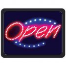 OPEN PROGRAMMED OVAL LED SIGN OPEN FOR BUSINESS! FREE SHIPPING!