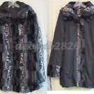 Dennis Basso Reversible Faux Fur Toggle Coat w/ Detachable Hood X-LARGE
