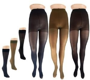 Legacy Trouser Socks and Microfiber Tights 3 Pairs Each SIZE D