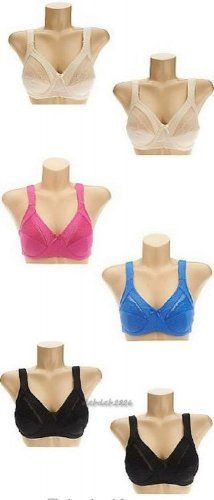 Breezies Set of 2 Jacquard and Lace Wirefree Support Bras