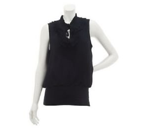 Kathleen Kirkwood Undercover Agent Ruffle Neck Top Choice of Sizes