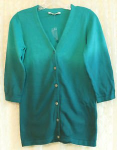 Liz Claiborne New York Dip Dye Cardigan with Novelty Buttons SMALL