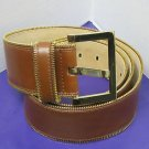 Isaac Mizrahi Live! Leather Zipper Edge Belt LARGE/1X